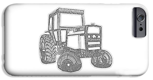 Machinery iPhone Cases - Tractor Transparent iPhone Case by Edward Fielding