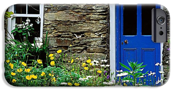 Garden Statuary iPhone Cases - Traditional Cottage, Co Cork iPhone Case by The Irish Image Collection