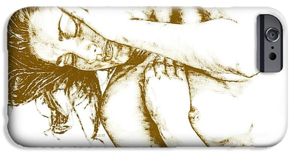 Monotone Paintings iPhone Cases - Tragedy iPhone Case by Richard Young