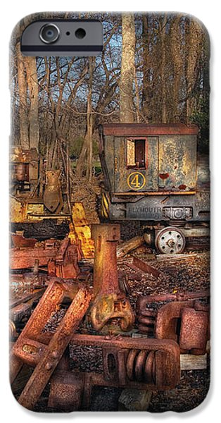 Train - Yard - Do it yourself kit iPhone Case by Mike Savad