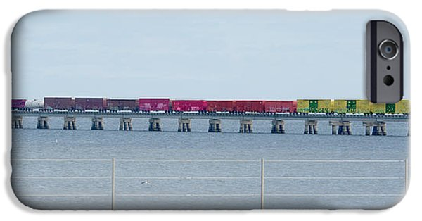Transportation Tapestries - Textiles iPhone Cases - Train Bridge iPhone Case by James Hennis