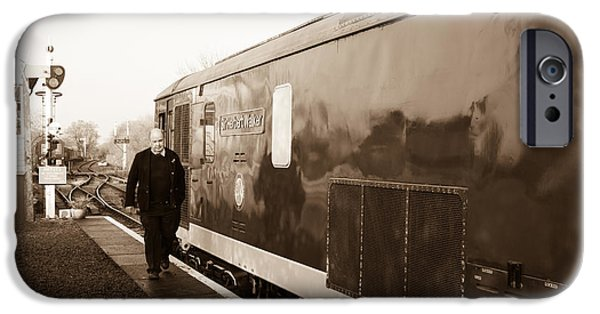 Swindon iPhone Cases - Train leaving  iPhone Case by Steven Sexton