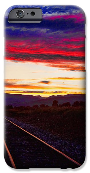 Train Track Sunset iPhone Case by James BO  Insogna