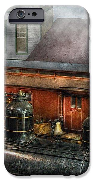 Train - Yard - The train yard II iPhone Case by Mike Savad