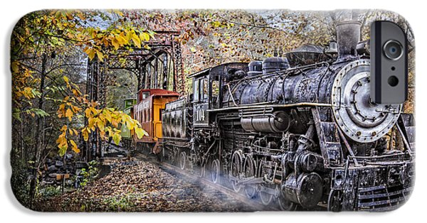 Old Cars iPhone Cases - Trains Coming iPhone Case by Debra and Dave Vanderlaan