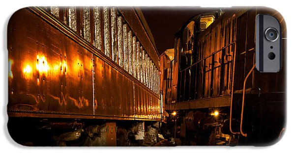 Night Lamp iPhone Cases - Trains too close iPhone Case by Kenneth Sponsler