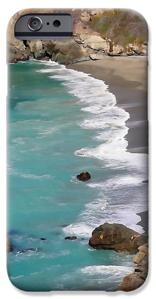 Big Sur Ca iPhone Cases - Tranquil Big Sur iPhone Case by Art Block Collections