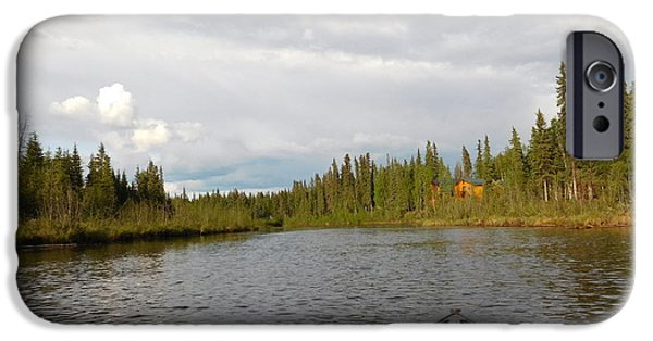 Canoe iPhone Cases - Tranquil Moment North Pole AK iPhone Case by Diannah Lynch