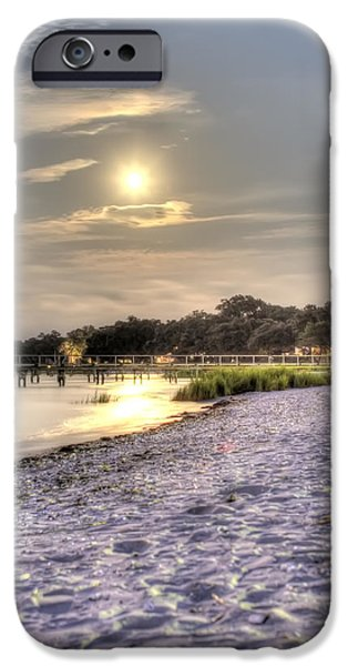 Moon Beach iPhone Cases - Tranquil Southern Night iPhone Case by Dustin K Ryan