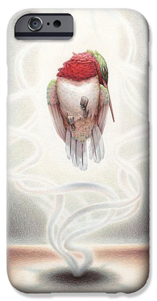 Jesus Drawings iPhone Cases - Transcendent Flight iPhone Case by Amy S Turner