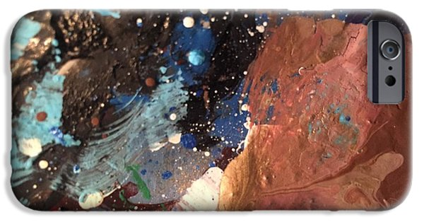 Abstract Expressionism iPhone Cases - Transcending Voyage iPhone Case by Edward Paul