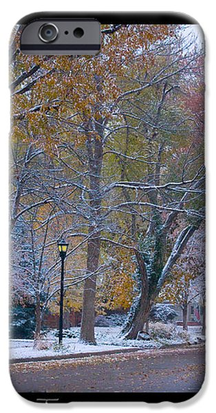Transitions Autumn to Winter Snow Poster iPhone Case by James BO  Insogna