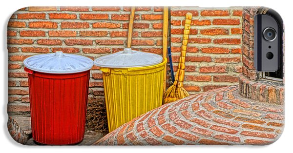 Tbilisi Photographs iPhone Cases - Trash Cans iPhone Case by Dennis Cox WorldViews