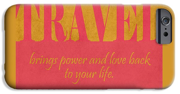 Power iPhone Cases - Travel and Love iPhone Case by Liesl Marelli