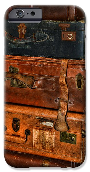 Luggage iPhone Cases - Travel - Old Bags iPhone Case by Paul Ward