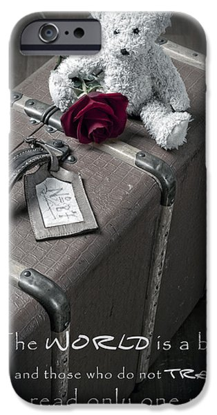 Stuffed Animal iPhone Cases - Travel the world iPhone Case by Joana Kruse