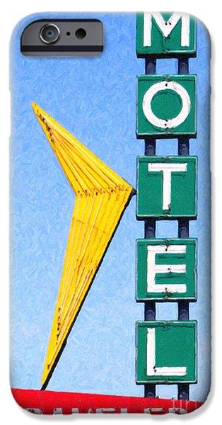 Travelers Motel Tulsa Oklahoma iPhone Case by Wingsdomain Art and Photography