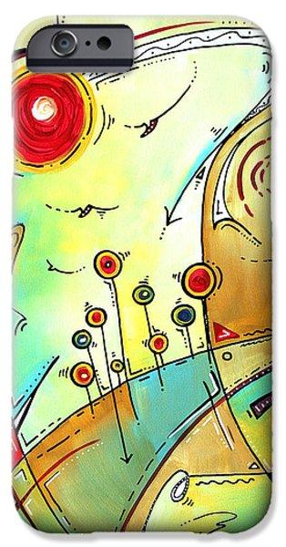 Traveling Band Original Painting MADART iPhone Case by Megan Duncanson