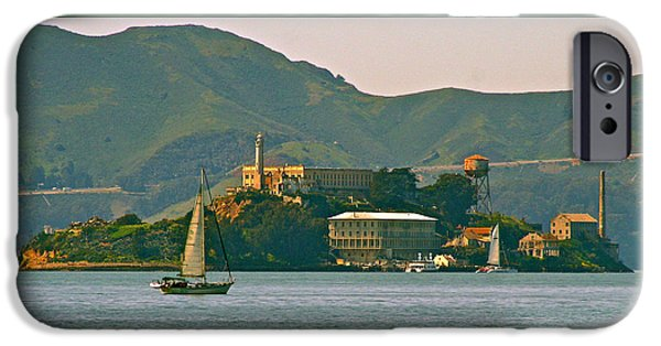 Alcatraz iPhone Cases - Traz - Version 2 iPhone Case by DUG Harpster
