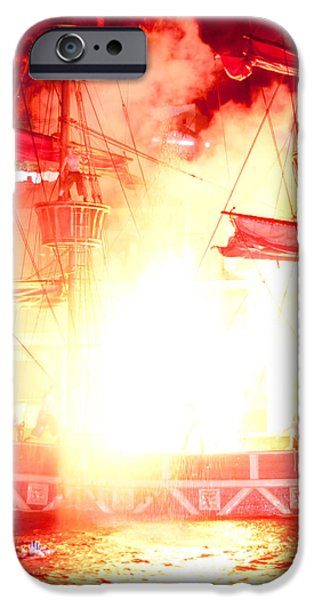 Treasure Island Explosion iPhone Case by Andy Smy