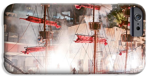 Pirate Ship iPhone Cases - Treasure Island Flashes iPhone Case by Andy Smy