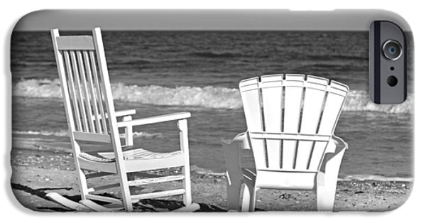 Adirondack Chairs On The Beach iPhone Cases - Treasure of Time iPhone Case by Betsy C  Knapp