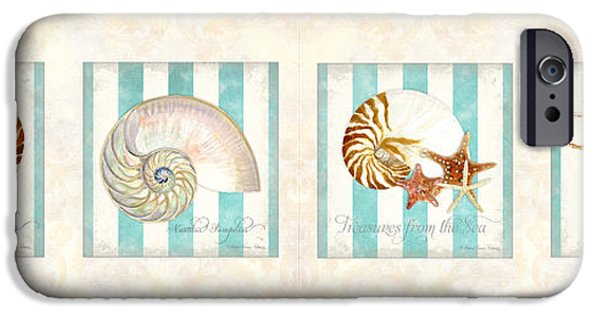 Rust iPhone Cases - Treasures from the Sea - Nautilus Shell iPhone Case by Audrey Jeanne Roberts
