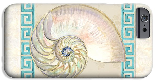 Rust iPhone Cases - Treasures from the Sea - Nautilus Shell Interior iPhone Case by Audrey Jeanne Roberts