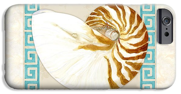 The Tiger iPhone Cases - Treasures from the Sea - Tiger Nautilus Shell iPhone Case by Audrey Jeanne Roberts