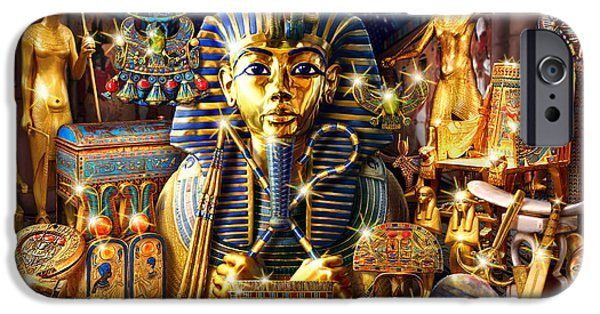 Egyptian iPhone Cases - Treasures of Egypt iPhone Case by Andrew Farley