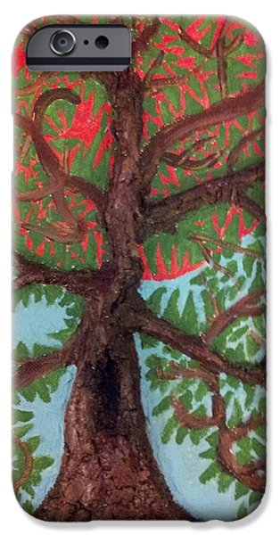 One Reliefs iPhone Cases - Tree 2 iPhone Case by William Douglas