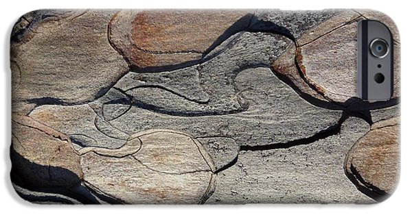 Abstract Digital Photographs iPhone Cases - Tree Bark 2 iPhone Case by Jean Bernard Roussilhe