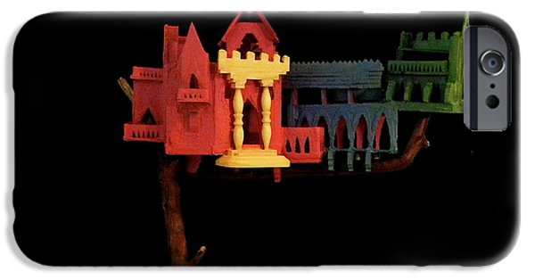 House Sculptures iPhone Cases - Tree Castle iPhone Case by Caleb Rogers