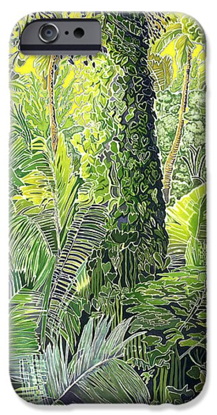 Art Medium iPhone Cases - Tree in Garden iPhone Case by Fay Biegun - Printscapes