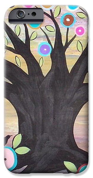 Tree Of Life And Bird iPhone Case by Karla Gerard