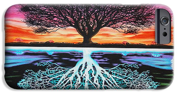 Field. Cloud Mixed Media iPhone Cases - Tree Of Life And Negative iPhone Case by Brian Schuster