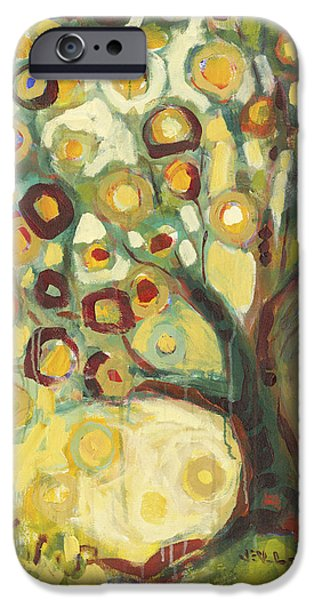 Contemporary Abstract iPhone Cases - Tree of Life in Autumn iPhone Case by Jennifer Lommers