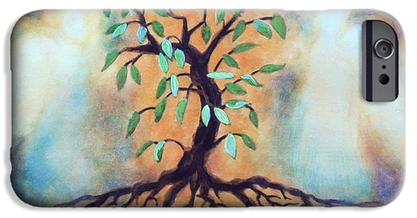 Angel Blues iPhone Cases - Tree of Life iPhone Case by Kathy Braud