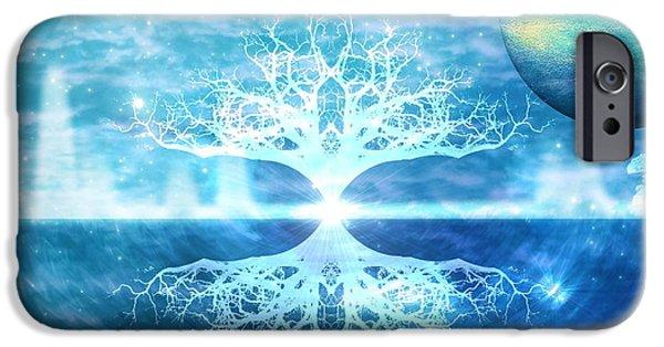 Flower Of Life iPhone Cases - Tree of Light iPhone Case by Brandi Elaine Crochet