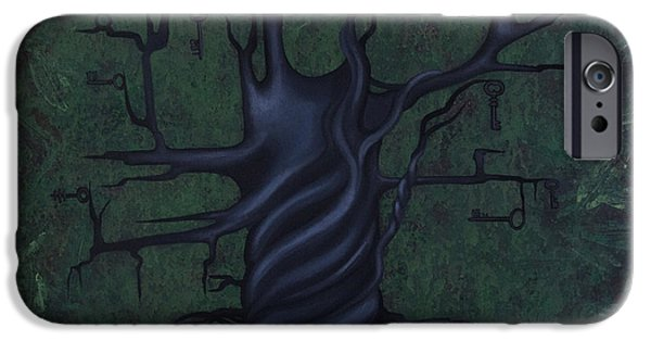 Nature Abstract iPhone Cases - Tree of Secrets iPhone Case by Kelly Jade King