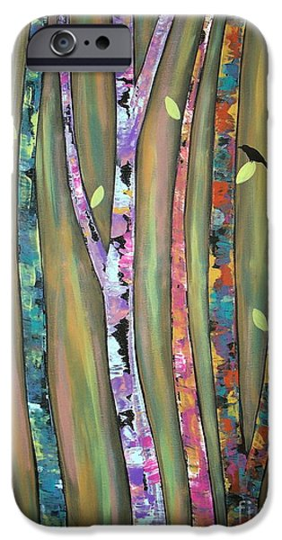 Tree Art Print iPhone Cases - Tree Whistlers iPhone Case by Karla Gerard