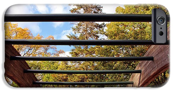 D.c. iPhone Cases - Trees Through Bars iPhone Case by Cora Wandel