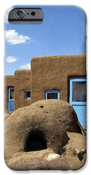 Tres Casitas Taos Pueblo iPhone Case by Kurt Van Wagner