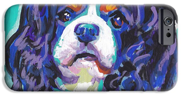 Fun Dog Art iPhone Cases - Tri a little tenderness iPhone Case by Lea