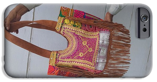 Work Tapestries - Textiles iPhone Cases - Tribal afghani bag  iPhone Case by Siddharth Sahni