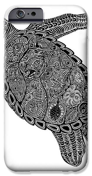 Tribal Turtle I iPhone Case by Carol Lynne