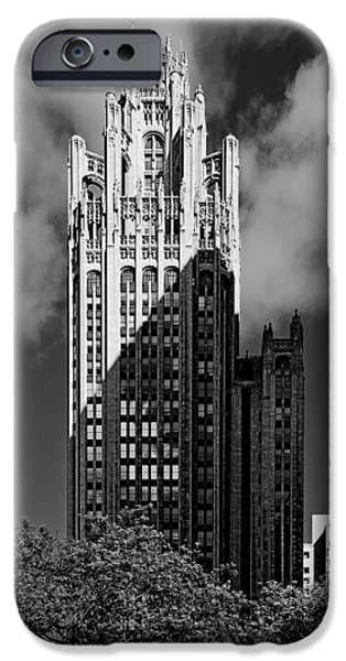 Multimedia iPhone Cases - Tribune Tower 435 North Michigan Avenue Chicago iPhone Case by Christine Till