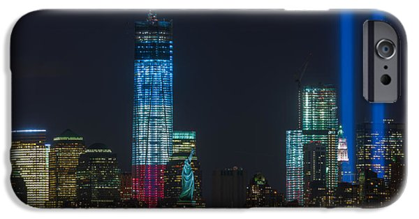Recently Sold -  - Empire State iPhone Cases - Tribute in Light VII iPhone Case by Clarence Holmes