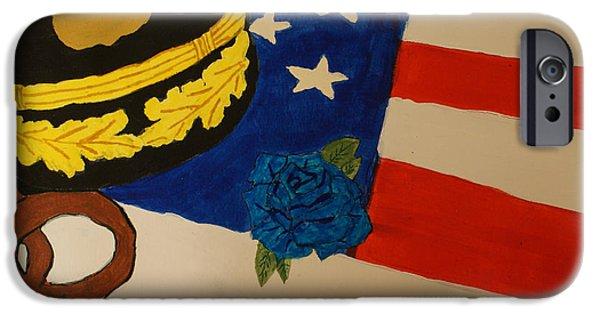 Law Enforcement Paintings iPhone Cases - Tribute To Law Enforcement iPhone Case by Elizabeth Kilbride