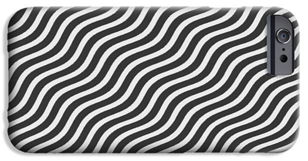Abstract Digital Tapestries - Textiles iPhone Cases - Tribute to OP ART iPhone Case by Suzi Freeman
